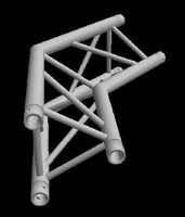 "Global Truss F33 12"" 2 Way 135 Degree Triangular Corner / Apex In"