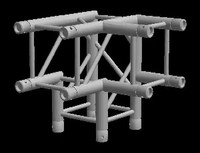 "Global Truss F34 12"" 3 Way 90 Degree Corner Junction"