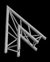 "Global Truss F33 12"" 2 Triangular Way 45 Degree Corner / Apex Out"