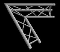 "Global Truss F33 12"" 2 Way Triangular 45 Degree Corner / Apex Up Down"