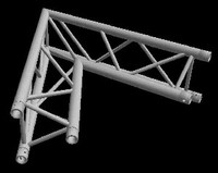 "Global Truss F33 12"" 2 Way Triangular 60 Degree Corner / Apex In"
