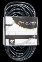 Accu Cable Black Extension Cord With Triple Tap - 50 FT 12 Gauge