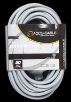 Accu Cable Gray AC Electrical Extension Cord - 50 FT 12 Gauge