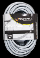 Accu Cable Gray AC Extension Cord - 100 FT 12 Gauge