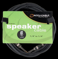 "Accu Cable S-614 1/4"" To 1/4"" Jack Speaker Cable - 6 Ft 14 Gauge"