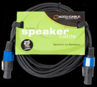 Accu Cable SK-2516 Speakon to Speakon - 25 Ft 16 Gauge