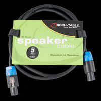 Accu Cable SK-514 Speakon to Speakon Cable - 5 Ft 14 Gauge