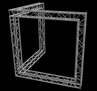 "Global Truss 12"" Box Truss 10'x10' Corner Wall Booth Truss System"