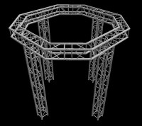 "Global Truss 12"" 10'x10' Octogon Tradeshow Booth Truss System"
