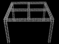 "Global Truss 12"" Box Truss 20' X 20' Trade Booth Truss System"
