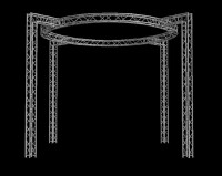 "Global Truss 12"" Box Truss 22' x 22' Circle Trade Booth Truss System"