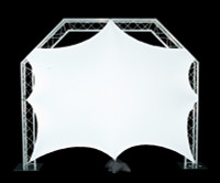 "Global Truss 8'5""x 8'5"" White Stretch Video Screen"