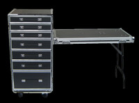 OmniCase 7 Drawer DJ Table / Road Case Combo