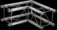 "Global Truss F24 9"" 2 Way 90 Degree Corner / 1.64ft. (0.5m)"