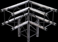 "Global Truss F24 9"" 3 Way 90 Degree Corner / 1.64ft. (0.5m)"