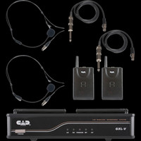 CAD VHF Wireless Dual Bodypack Microphone System / H Frequency