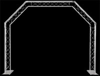 Global Truss Mobile DJ Goalie Post 10' x 8' / 5 Sided Archway