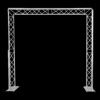 Global Truss F23 Triangular Mobile 8' x 8' DJ Goalie Post Truss System