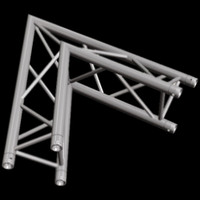 "Global Truss F33 12"" 2 Way Triangular 60 Degree Corner / Apex Out"