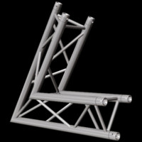 "Global Truss F33 12"" 2 Way Triangular 60 Degree Corner / Up Down"