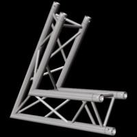 "Global Truss F33 12"" 2 Way Triangular 60 Degree Corner / Up Down"