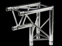 "Global Truss F33 12"" 2 Way Triangular 90 Degree Corner / Apex In"
