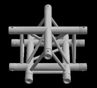 "Global Truss F33 12"" 4 Way Triangular Cross Junction / Apex Up"