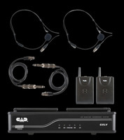 CAD UHF Wireless Dual Bodypack Microphone System