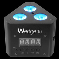 Chauvet DJ Wedge Tri Triangular DMX LED Wash Light / Truss Warmer