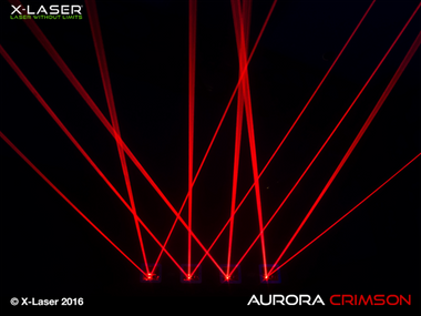 X Laser Aurora Crimson Red Laser Beam Liquid Sky Laser