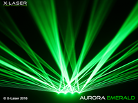 X-Laser Aurora Emerald Quad Beam Liquid Sky Laser