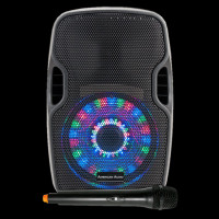 American Audio Battery PWR PA Speaker w/ LEDs + Wireless Microphone