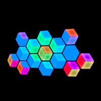 ADJ 3D Vision Plus Hexagonal LED Graphics Effect Panel