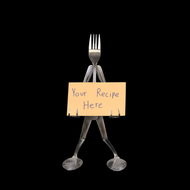 Recipe Card Stand - Fork©