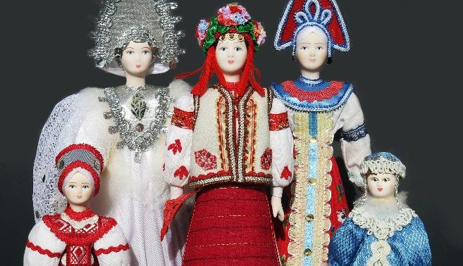 Russian Porcelain Costume Dolls