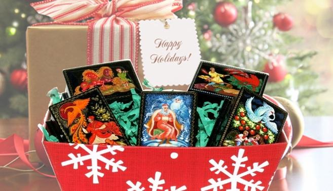 Hand Painted Russian Souvenir Keepsake Lacquer Boxes