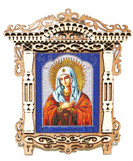 Holly Mary Small Framed Orthodox Russian Icon