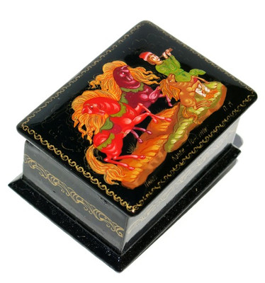 Humpbacked Pony Palekh Miniature Lacquer Box