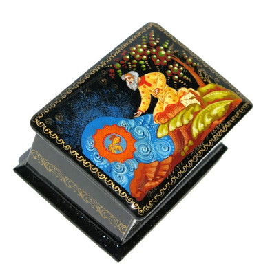 Goldfish Palekh Miniature Lacquer Box
