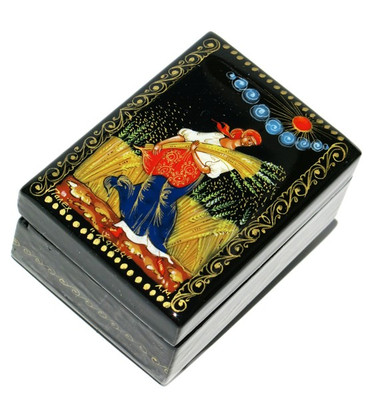 Harvest Palekh Miniature Lacquer Box