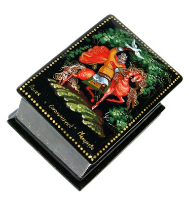 Sokol Miniature Palekh Lacquer Box