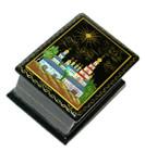 Monastery Miniature Palekh Lacquer Box