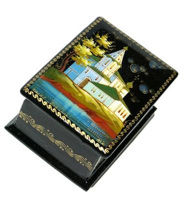 Suzdal Temple Miniature Palekh Lacquer Box