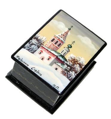 Suzdal Miniature Fedoskino Lacquer Box
