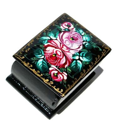 Pink Roses Miniature Souvenir Box