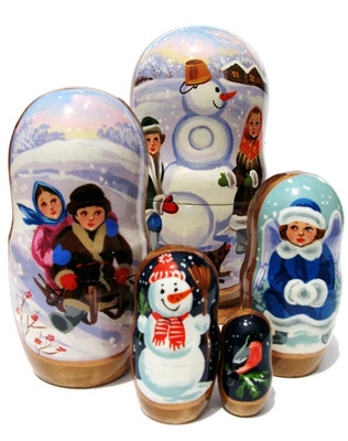Children 5-Piece Russian babushka doll set