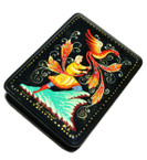 Fire Bird Russian Kholuy Lacquer Box