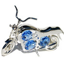 Motorcycle Swarovski Crystals 925 Sterling Silver Ornament