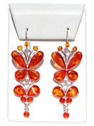 Mademoiselle Honey Baltic Amber 925 Silver Earrings