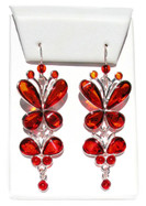Mademoiselle Cognac Baltic Amber 925 Silver Earrings